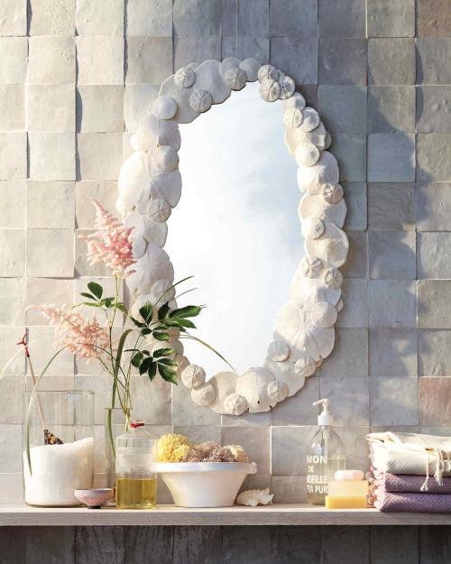 Idées d'artisanat de coquillages miroir attrayant