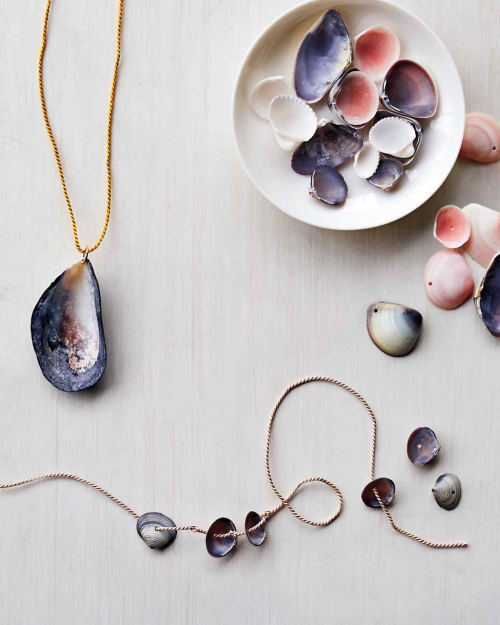 Idées d'artisanat de coquillages pendentif et collier