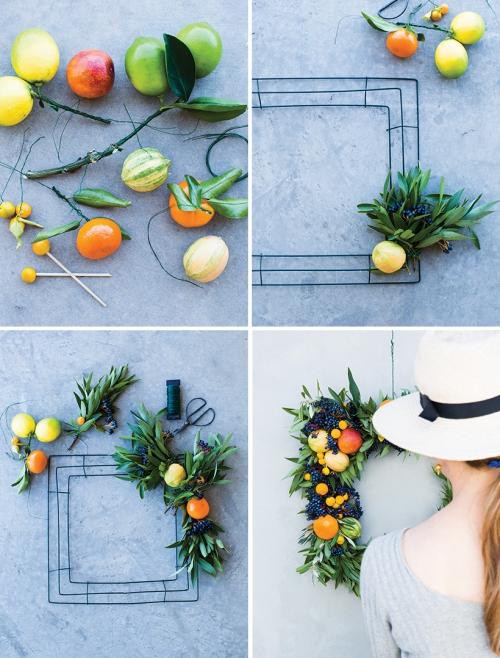Idées de couronnes d'agrumes des oranges