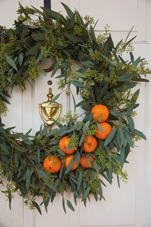 Idées de couronnes d'agrumes jolie couronne pour la porte d'entrée
