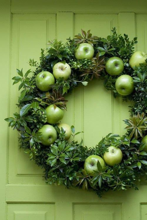 Idées de couronnes d'agrumes porte verte couronne verte