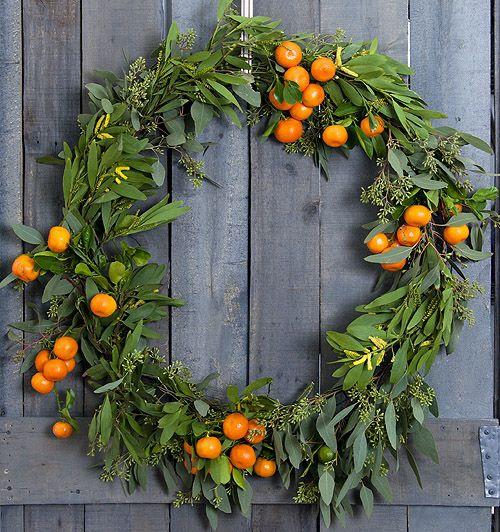 Idées de couronnes d'agrumes tranches d'oranges séchées