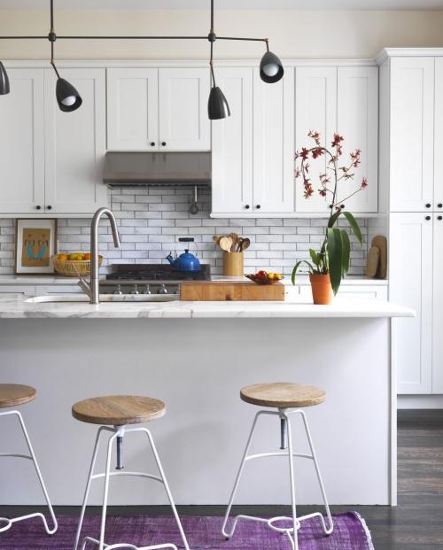 Idées de cuisine moderne chaque saison couleur blanche