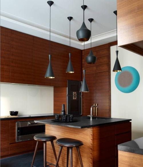 Idées de cuisine moderne chaque saison ensemble en brun