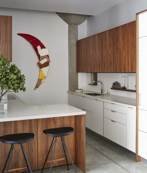 Idées de cuisine moderne chaque saison murs blancs
