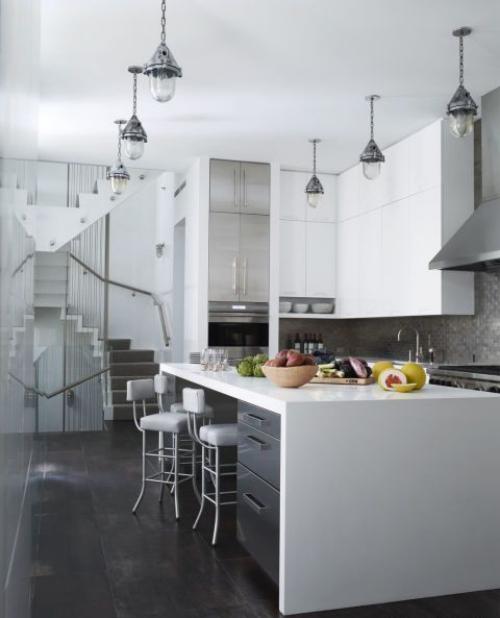 Idées de cuisine moderne chaque saison petit espace angles optimisés