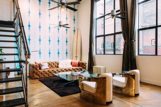 Idées de fond d'écran de salon ensemble du luxe et du vintage