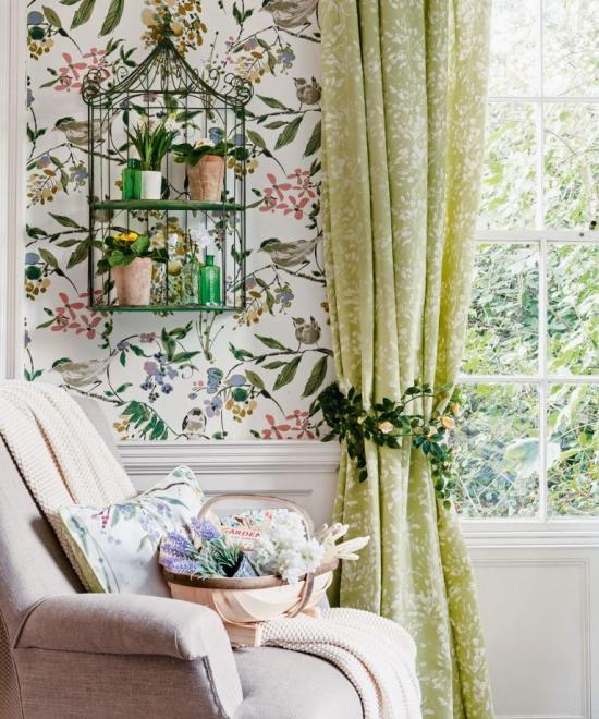 Idées de fond d'écran de salon le jardin dans la pièce