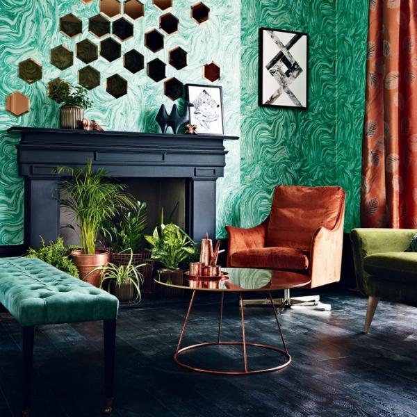 Idées de salon vert deux nuances du vert criantes