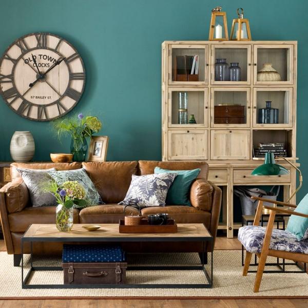 Idées de salon vert le vintage dans chaque meuble ou objet