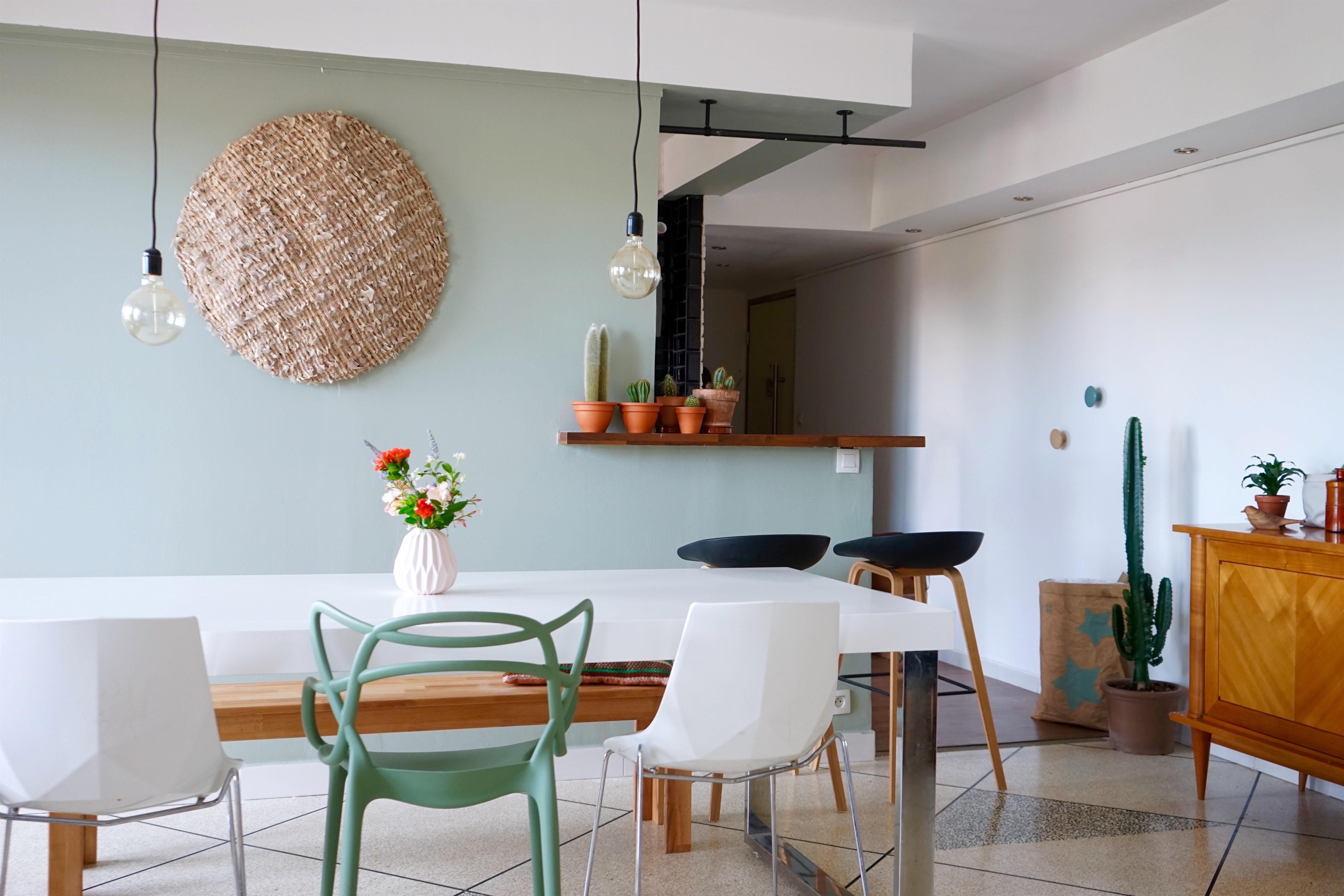 id es de salon vert le calme de la nature chez vous. Black Bedroom Furniture Sets. Home Design Ideas