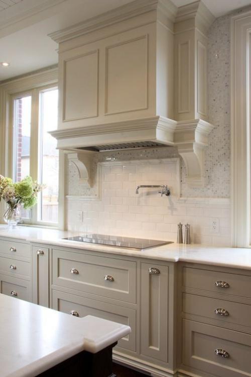 Idées pour armoires de cuisine en couleurs armoires et tiroirs en tons pastel