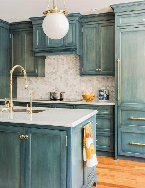 Idées pour armoires de cuisine style vintage