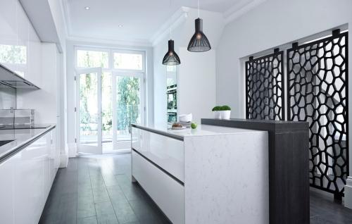 Idées pour cuisine en blanc et noir design