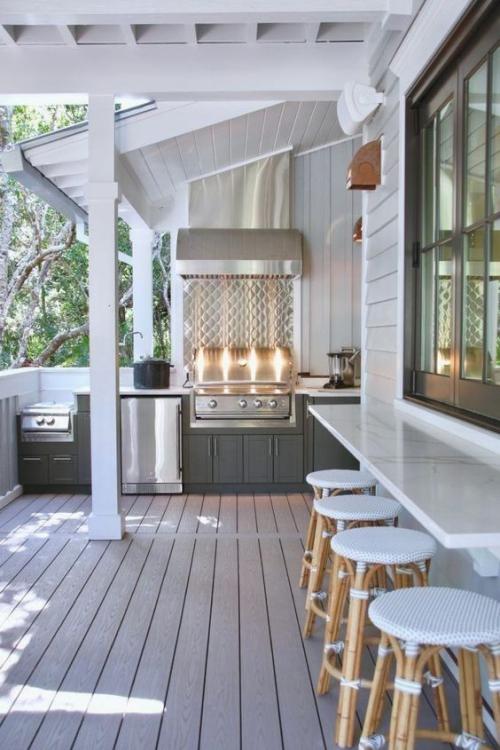 Idées pour cuisine extérieure balcon adapté