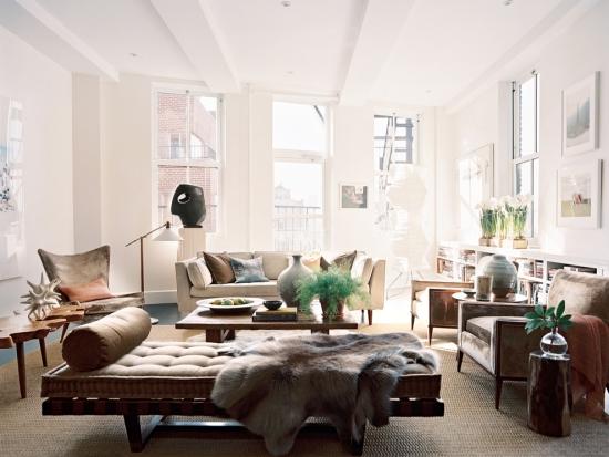 Idées pour décoration design du salon moderne murs en rose