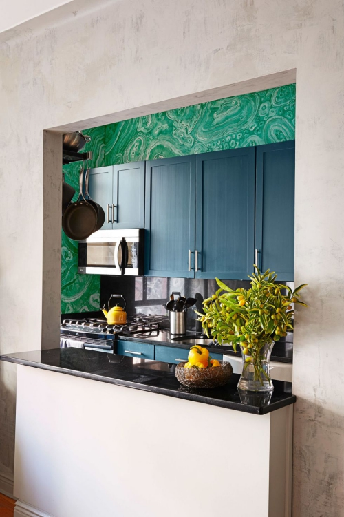 Idées pour petite cuisine abritée dans une niche