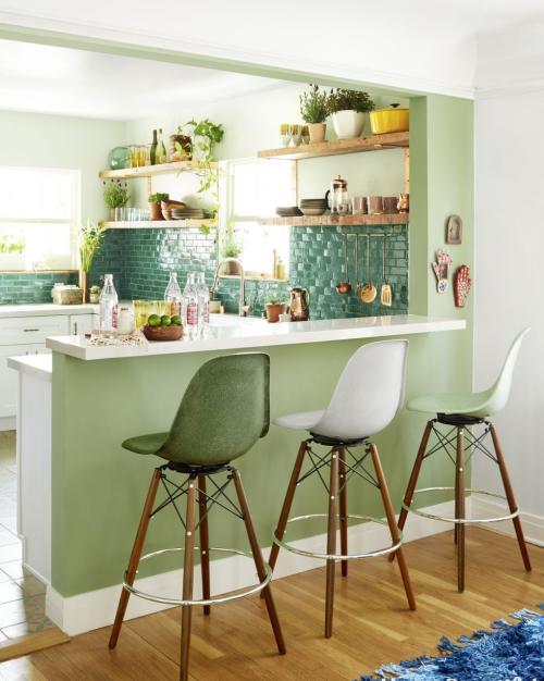 Idées pour petite cuisine coin cuisine en vert