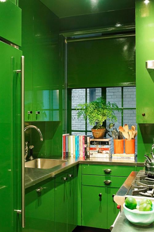 Idées pour petite cuisine petit coin vert