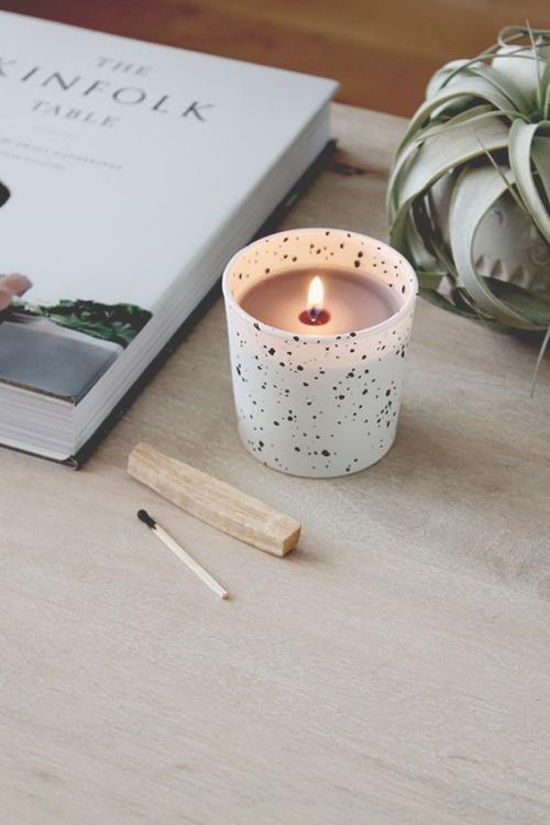 Les bougies fabriquées à la main récipient en bakélite