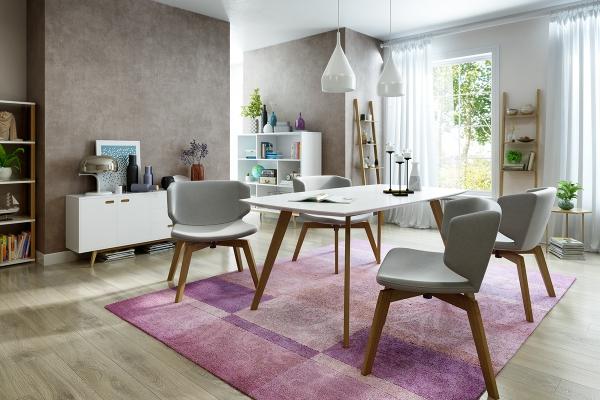 Salon avec salle à manger deux zones mur séparateur