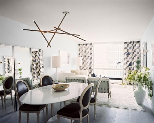 Salon avec salle à manger grand espace très clair