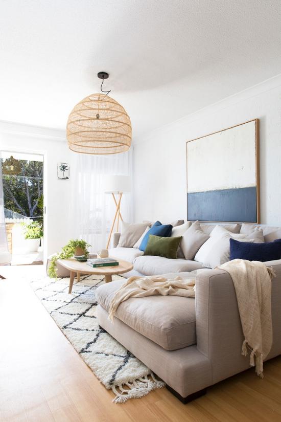 Incroyable Salon Bord De Mer Décoration Mur Blanc Avec Tableau