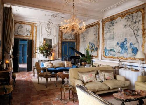Salon d'inspiration campagne chic jolie évocation des châteaux français