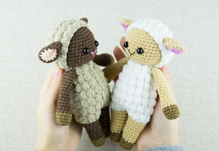 agneaux débuter au crochet amigurumi modèle