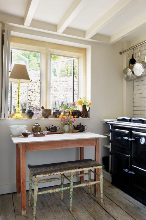 aménagement petit espace petite cuisine shabby chic