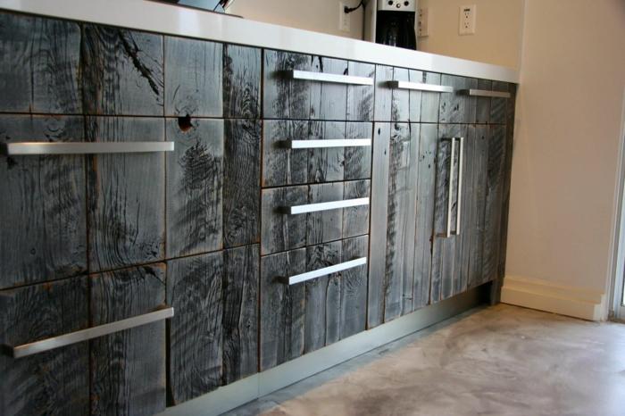 armoires de cuisine shou sugi ban