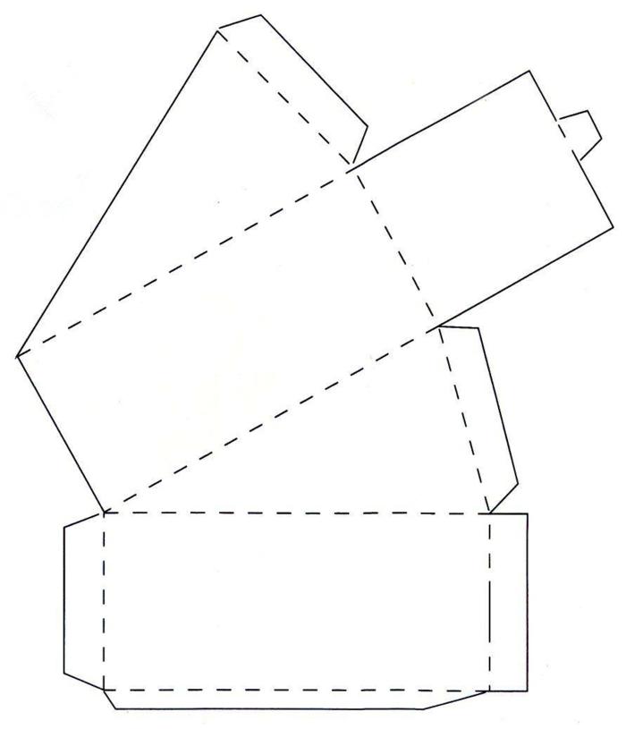boîte dragées en papier diy idée
