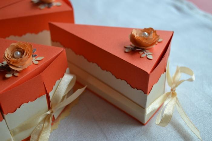 boite dragées déco en orange