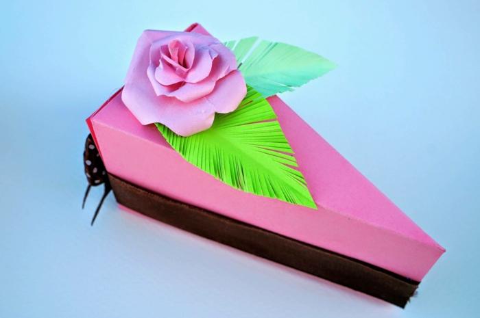 boite dragées déco en rose