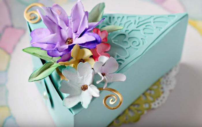boîte dragées déco gâteau