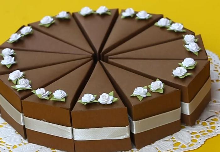 boite dragées diy gâteau