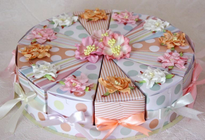 boite dragées en forme de gâteau