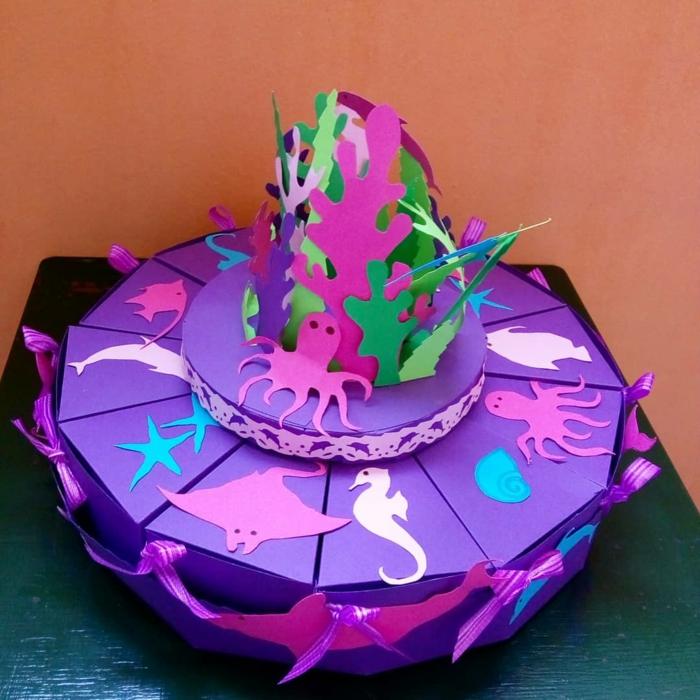 boite dragées en violet