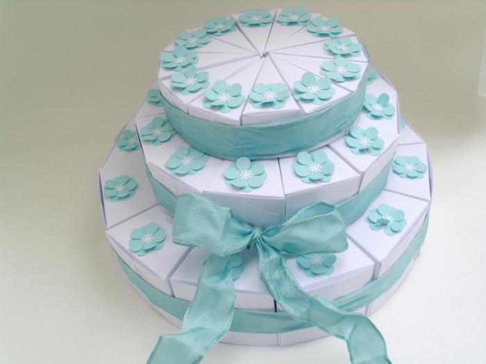 boite dragées gâteau 3 niveaux