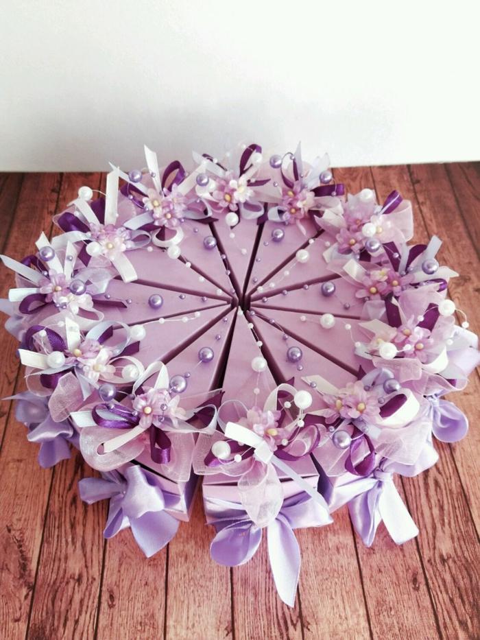 boite dragées touche de violet