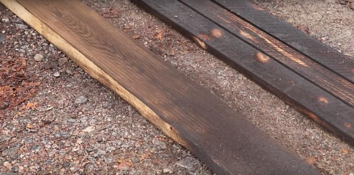 brosser le bois shou sugi ban