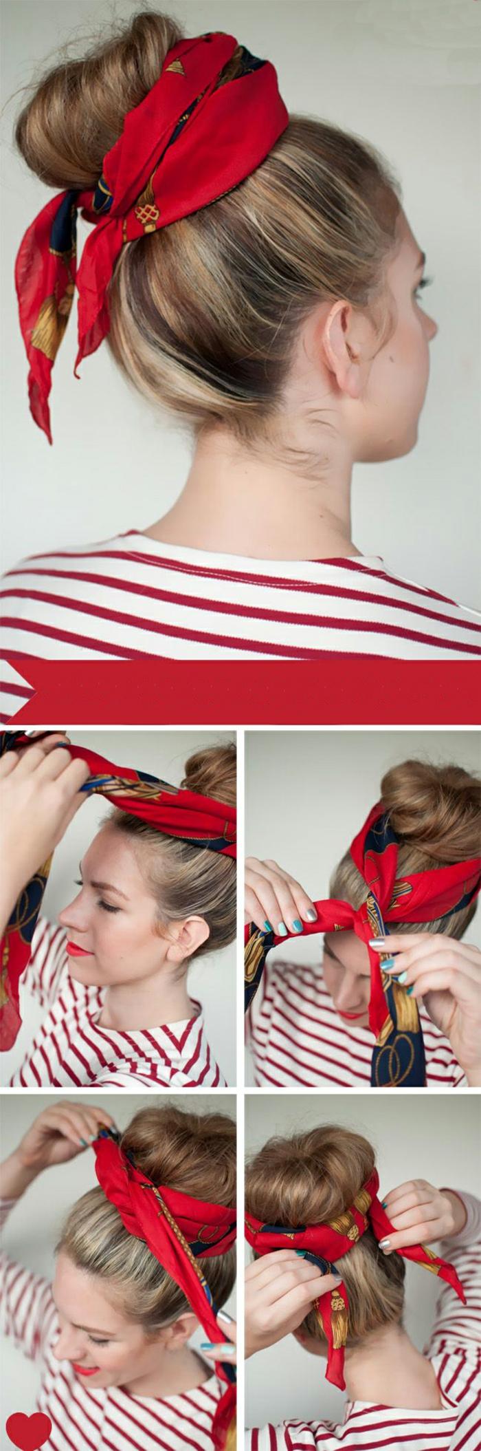 bun nouer foulard cheveux