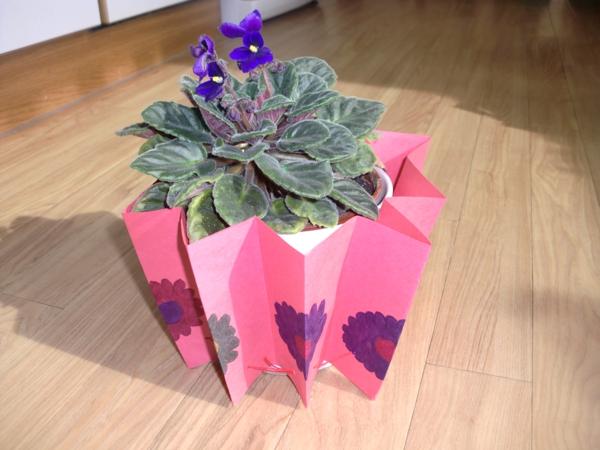 cache-pot pas cher papier décoratif