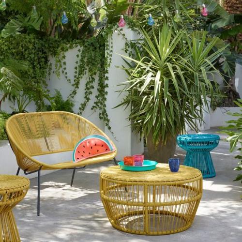 chaises de jardin bel ensemble en osier