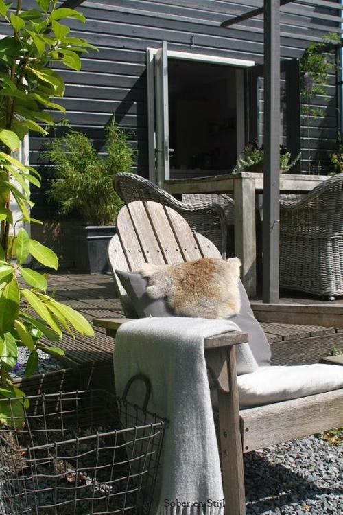 chaises de jardin chaise inclinée en bois