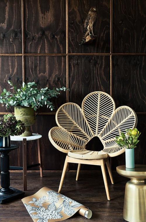 chaises de jardin en forme d' éventail