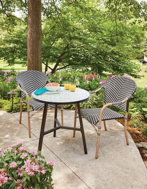 chaises de jardin jolies chaises mozaïque