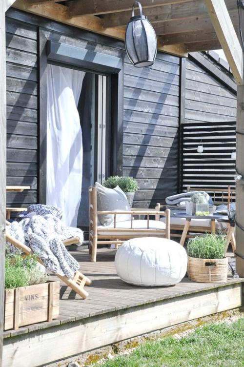 chaises de jardin profondes et confortables