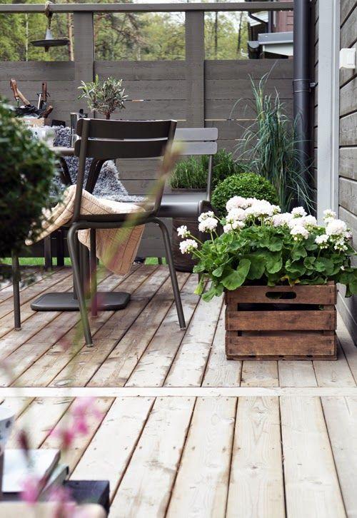 chaises de jardin très simples pour la terrasse