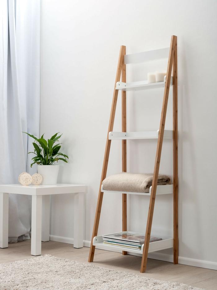chambre cosy avec une belle échelle bois déco